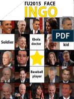 State of the Union 2015 face bingo