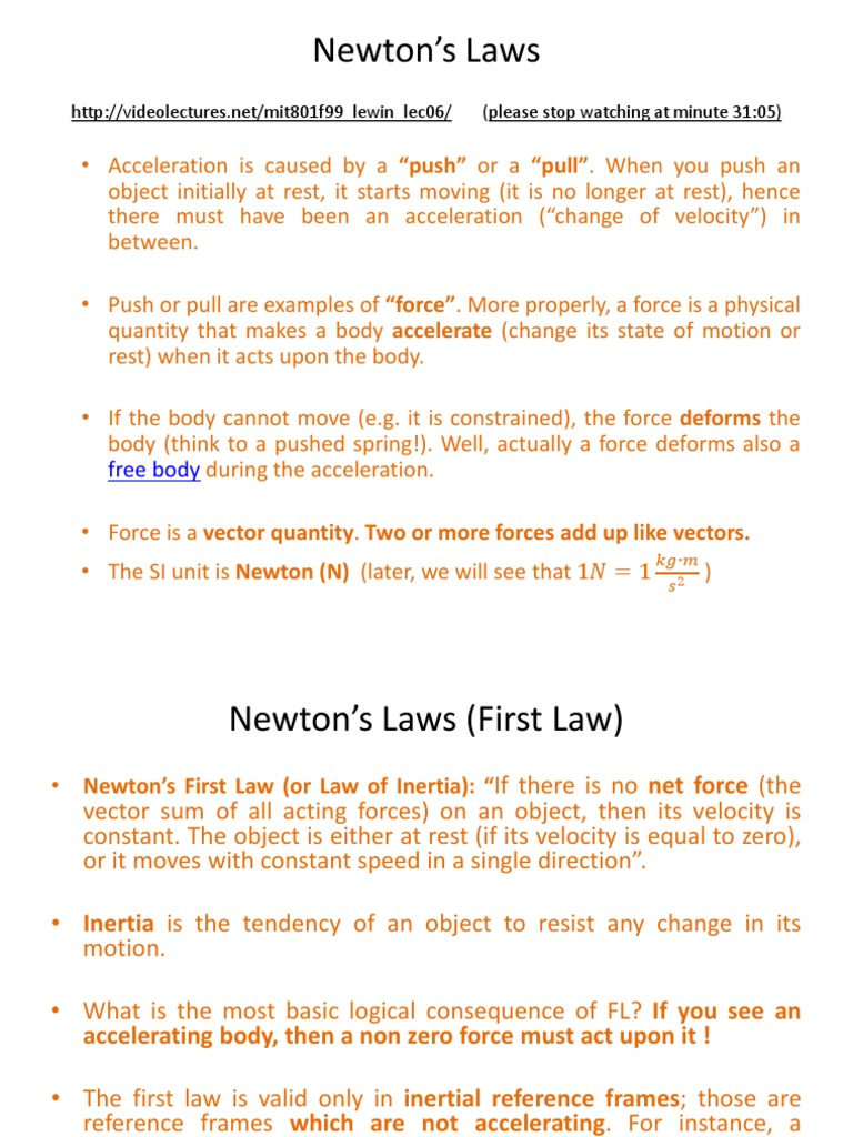 Newtons Laws Newtons Laws Of Motion Force