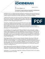 Schoeneman Announces Campaign for Fairfax Board of Supervisors