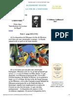 Alexandre Kojeve _ LA FIN de L'HISTOIRE - Notes