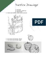line practice drawings