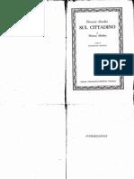 Hobbes - Elementi Filosofici Sul Cittadino (de Cive)