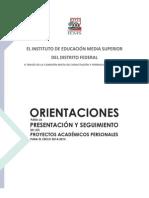 1984960111orientaciones Para La Presentacion y Seguimiento