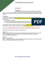 Sep-Dec 2014 IELTS Writing Predictions (Updated Sep 6)