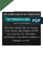 My Personal Bravery Printable