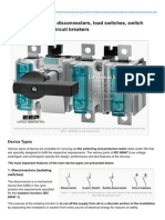 Differences Between Disconnectors Load Switches Switch Disconnectors and Circuit Breakers