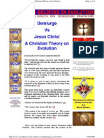 Demiurge vs Jesus Christ = a stupid hod made the universe