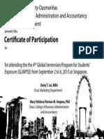 Certificate GLIMPSE