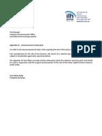 224.ASX IAW Aug 15 2014 Appendix 3C Announcement of Buy-back