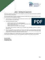 230.ASX ILH Sept 18 2014 Update Banking Arrangements