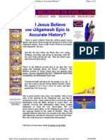 Did Jesus Believe the Gilgamesh Epic is Accurate History