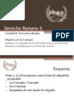 Derecho Romano II Unidad II Tema 3