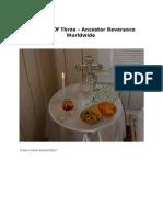 Part One of Three - Ancestor Reverance