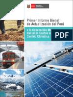 Primer Informe Bienal de Actualización Del Perú a La Convención Marco de Las Naciones Unidas Sobre El Cambio Climático