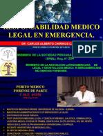 3. Responsabilidad Médico Legal en Emergencias - Dr. Carlos Chirinos Castro