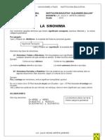 Sinonimia Ejercicios Practicos - Secundaria