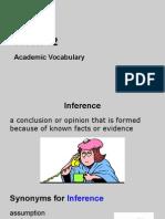 academic vocabulary week 12