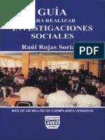 Rojas Soriano Guia Para Realizar Investigaciones Sociales