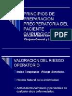 Principios de Preparacion Preoperatoria Del Paciente Quirurgico