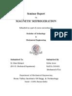 Magnetic Refgiration