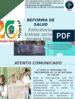 reforma de enfermeria, trabajo social y rehabilitacion.ppsx