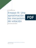 Ensayo III