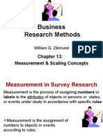 Ch13 Zikmund Measurement and Scale