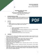 Programa Precalculo I 2015