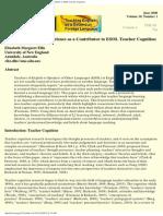 Teacher Cognition Piece