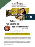 5 Elementos Cocina Natural (Elena Carrió)