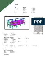 Contoh Hitungan Gempa Excel