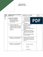 Yearly Plan Math f2 2012