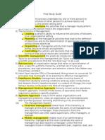 Management Final Study Guide