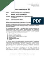 Directiva Ministerial N.20 MEN