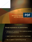 Key Concepts in Research Design - Hypotheses, IVs, DVs