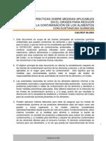 CXP CÓDIGO DE PRÁCTICAS SOBRE MEDIDAS APLICABLES EN EL ORIGEN PARA REDUCIR LA CONTAMINACIÓN DE LOS ALIMENTOS CON SUSTANCIAS QUÍMICAS CAC/RCP 49-2001_049s