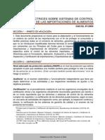 DIRECTRICES SOBRE SISTEMAS DE CONTROL DE LAS IMPORTACIONES DE ALIMENTOS CAC/GL 47-2003 CXG_047s