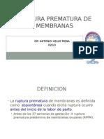 ruptura prematura de membranas ginecología ppt