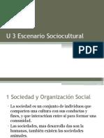 U 3 Escenario Sociocultural