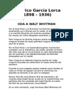 Lorca Oda a W Whitman