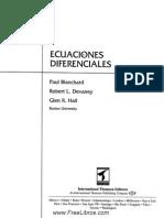 Ecuaciones Diferenciales - Paul Blanchard, Robert L. Devaney & Glen R. Hall