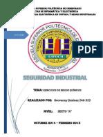 Seguridad Industrial (Ejercicios Riesgos Químicos)