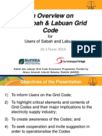Overview of Sabah and Labuan Grid Code 16 June 2014