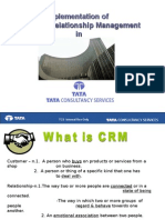 Implementation of Customer Relationship Management In