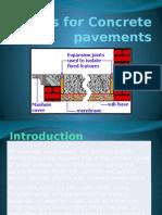 Joints for Concrete Pavements