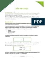 Análisis de Varianza - Distribuicón F