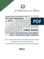 Linee Guida Per La Gestione Della Sicurezza Delle Infrastrutture Stradali