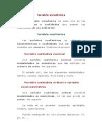 Variable Estadística UMSA