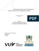 Evaluation of the Implementation of the Solar Still Principle on Runoff Water Reservoirs in Budunbuto Somalia-C Sardella