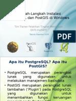 Instalasi PostgreSQL Dan PostGIS